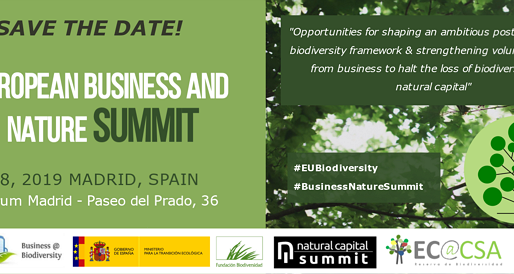 Natural Capital collaboration a topic for the agenda at the European Business and Nature Summit 2019