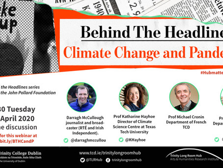 EVENT: Climate Change and Pandemics, an Online Webinar Discussion featuring Professor Jane Stout