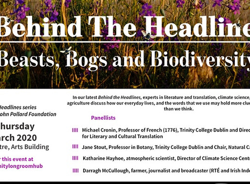 EVENT CANCELLED: Discussion on Beasts, Bogs and Biodiversity