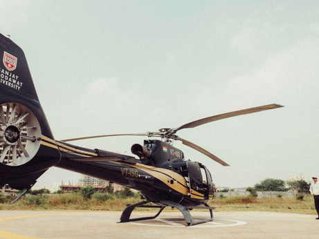 We took the Blade chopper ride from Mumbai to Pune. Here's what it looks like
