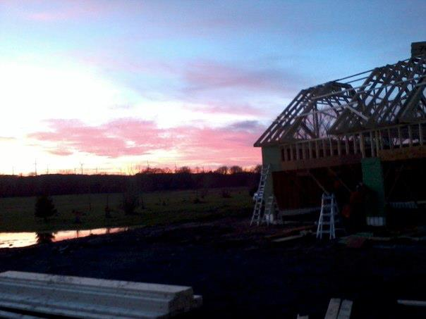 Truss sunset