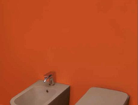 kerasan | tribeca color - bidet + wc + copri sedile rallentato