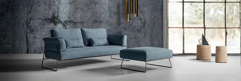 Exco - Pakos divano componibile 220x95 come foto stoffa cat.B