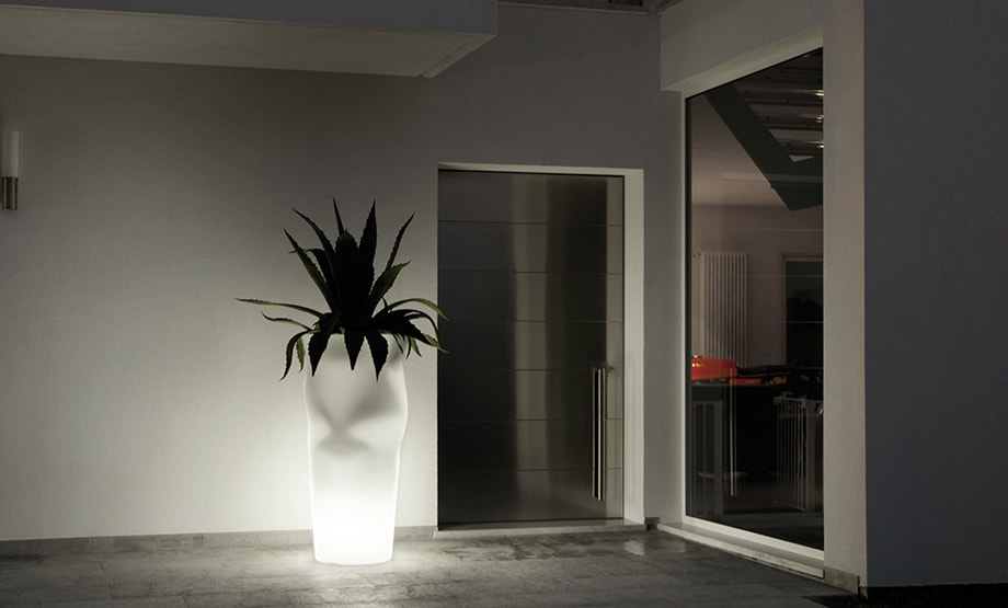 vasi illuminati per interno bergamo