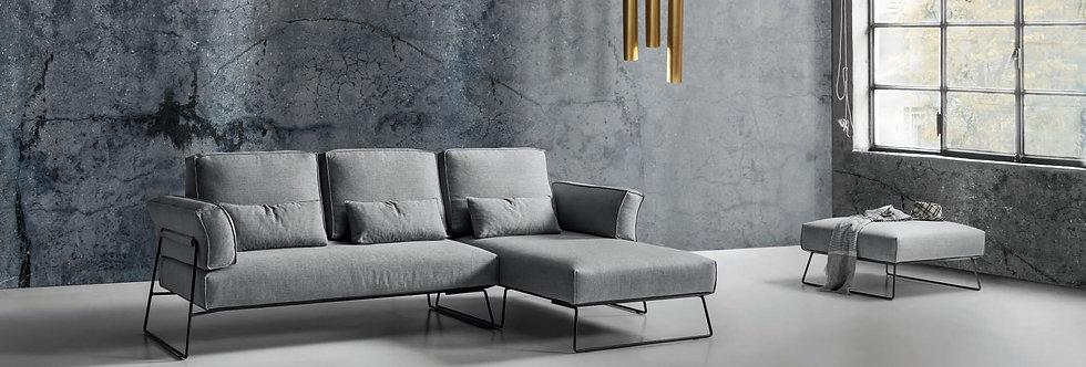 Exco - Pakos divano componibile 268x170 come foto stoffa cat.B