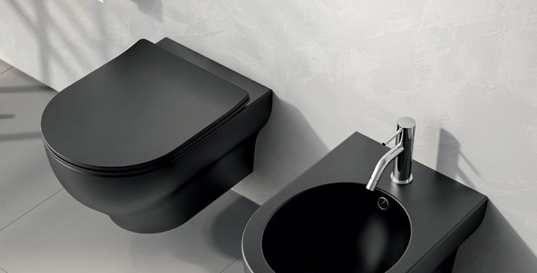 olympia | clear color - bidet + wc + copri sedile rallentato