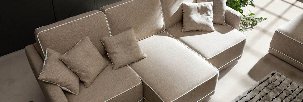 Samoa - Double divano componibile 272x110 come foto stoffa cat.B