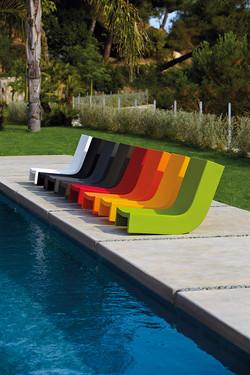 chaise longue esterno slide