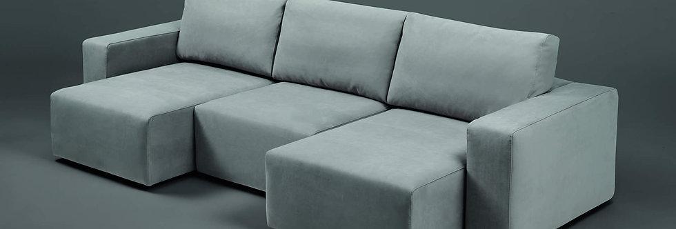 Exco - Samuel divano componibile 266x111 come foto stoffa cat.B