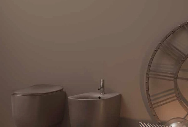 kerasan | nolita color - bidet + wc + copri sedile rallentato