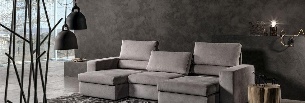 Exco - Korral divano componibile 290x100 come foto stoffa cat.B