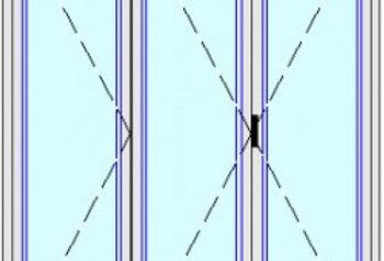 Dynamic 70 portafinestra 3 ante soglia ribassata