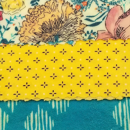 Beeswax Food Wraps D - 3 pack