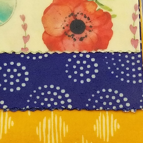 Beeswax Food Wraps C - 3 pack