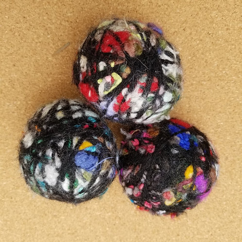 Dryer Balls - 3 with black highlights