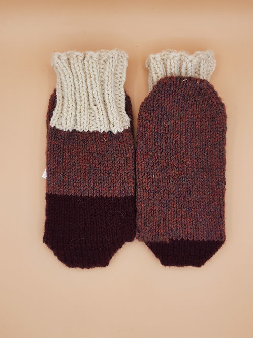 Wool Socks - Size Small (5-6) - Maroon