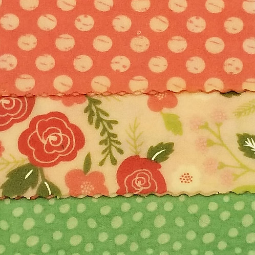 Beeswax Food Wraps M - 3 pack