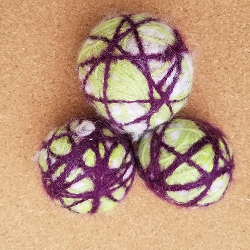Dryer Balls - 3 colourful balls