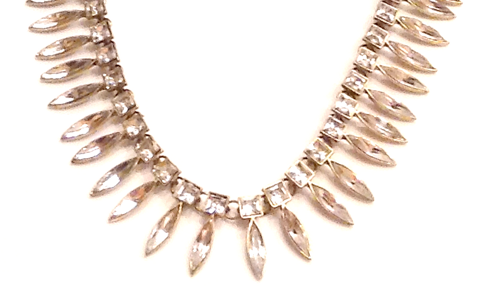 Clear statement necklace