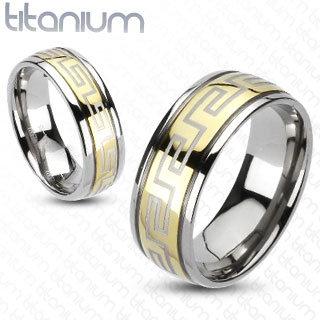 Greek pattern center ring