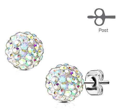 Crystal AB ball studs