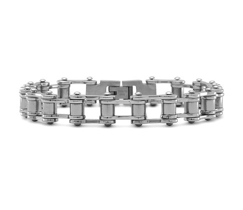 Bicycle chain link bracelet