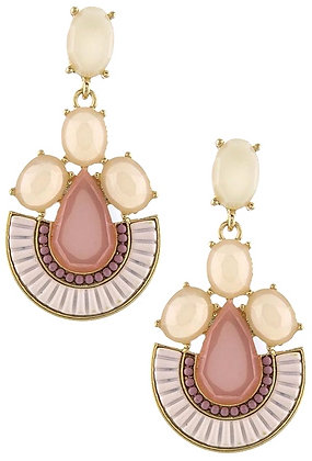 Mix jewel pink earrings