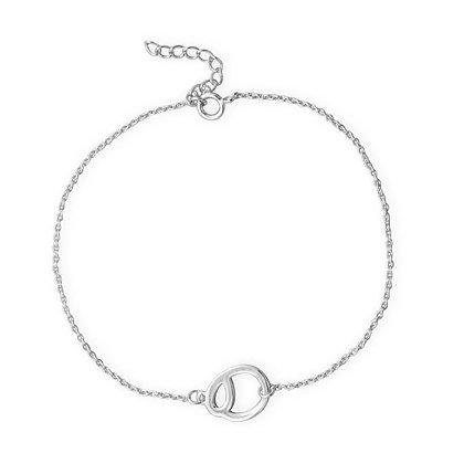 Circle center silver bracelet