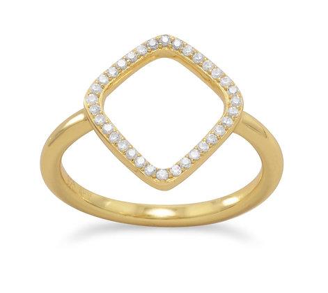 Diamond Shaped gold ring