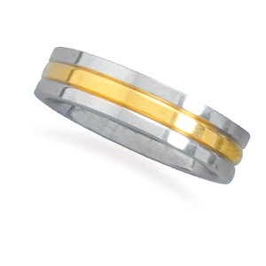 Silver and gold center ring