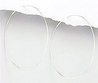 Thin silver endless hoops