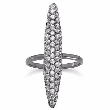 Oblong CZ ring