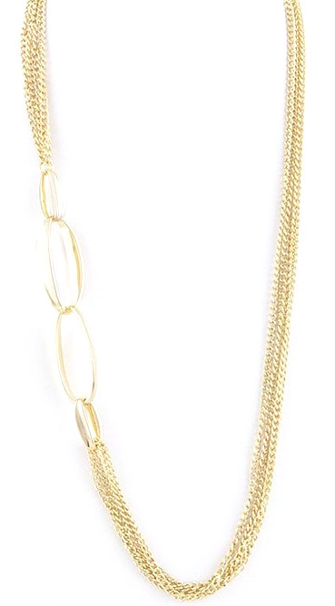 Gold draping necklace