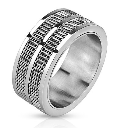 Double mesh inlay ring
