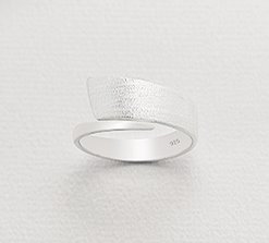 Two tone wrap ring
