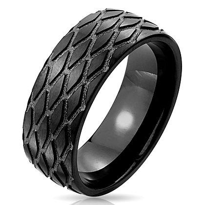 Tire tread pattern ring