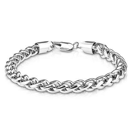 Wide Wheat link bracelet