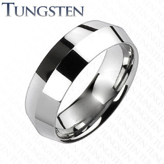 Silver center point ring