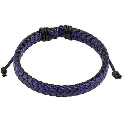 Blue & black weave bracelet