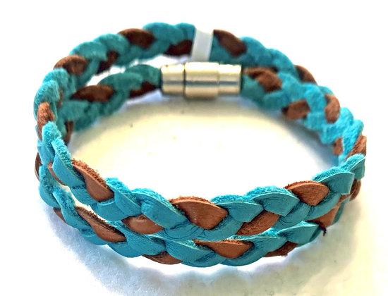 Two tone braided bracelet