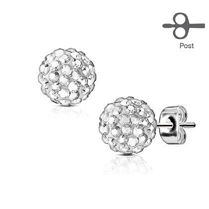 Crystal mini ball studs