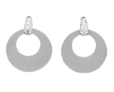 Small circle cutout earrings