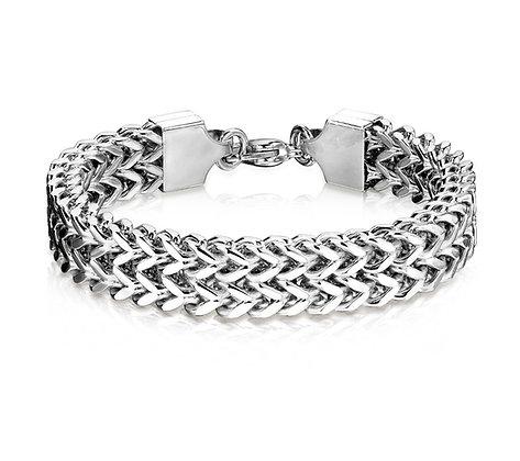 Wide weave link bracelet