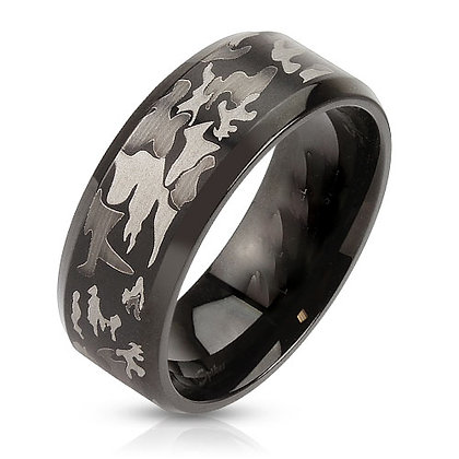 Black camouflage ring