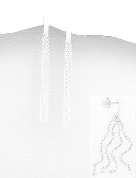 Silver multi link drop earrings