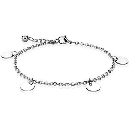 Circles charm bracelet/anklet