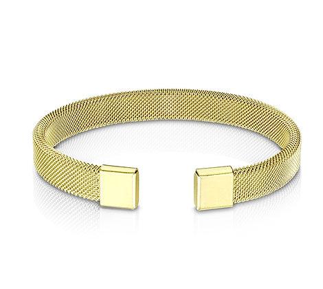 Gold mesh cuff