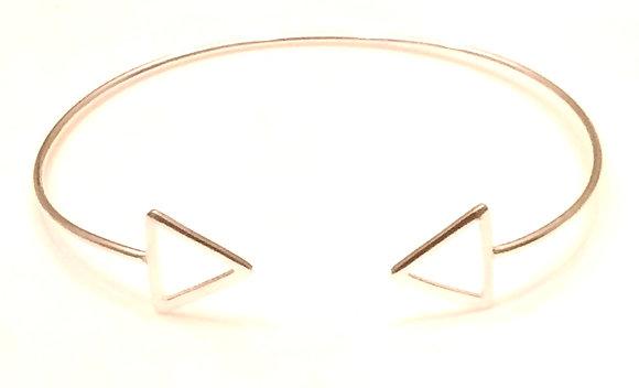 Silver traingle tip cuffs