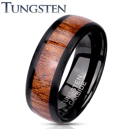 Black Rim Wood Inlay ring