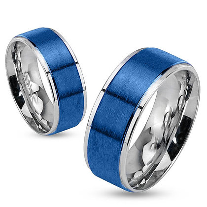Two tone blue center ring